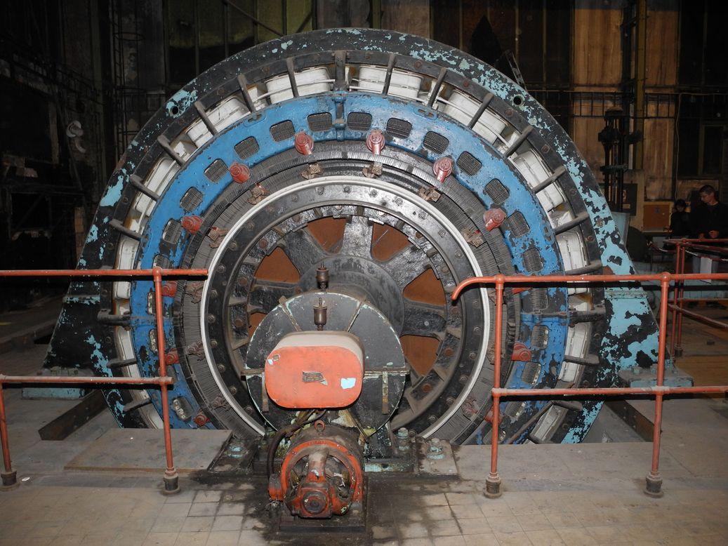 Těžní elektromotor v dole Hlubina (Dolní Vítkovice)