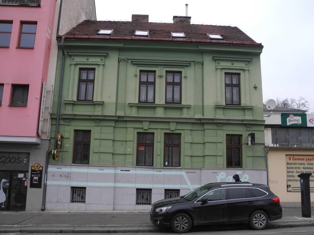 Průzkum barevnosti fasády na žižkovských pavlačích, čp. 158 a 1016, Žižkov